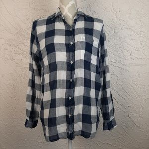 Denim & Supply Boyfriend Style Plaid Top